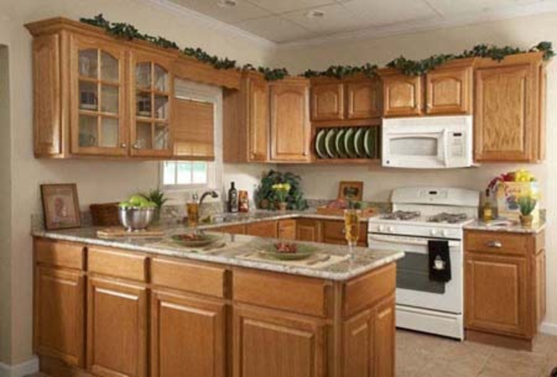 the most popular modern oak wood kitchen cabinets