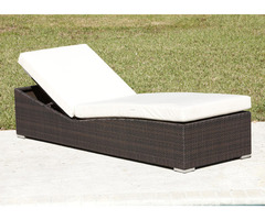 Venice Resin Wicker Chaise Lounge