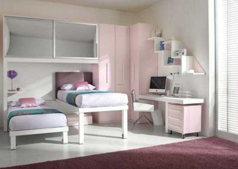 Cool Kids Girls Loft Double Bed Design Bookmark 8603