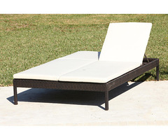 Resin Wicker Double Chaise Lounge