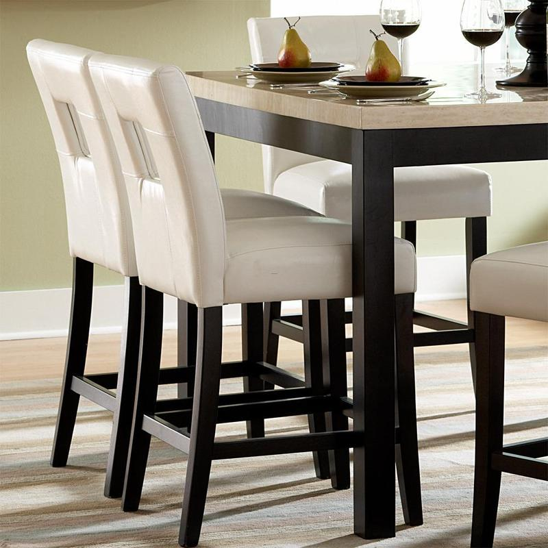 Mendoza White Keyhole Back Counter Chairs Set Of 2