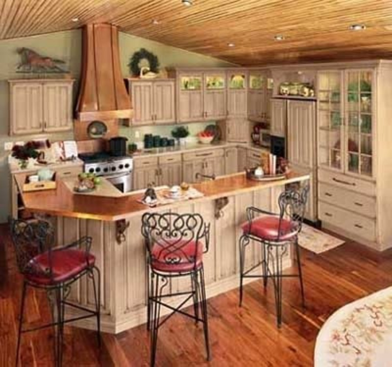 Glazed kitchen cabinets diy antique painting kitchen for Kitchen cabinet paint design ideas
