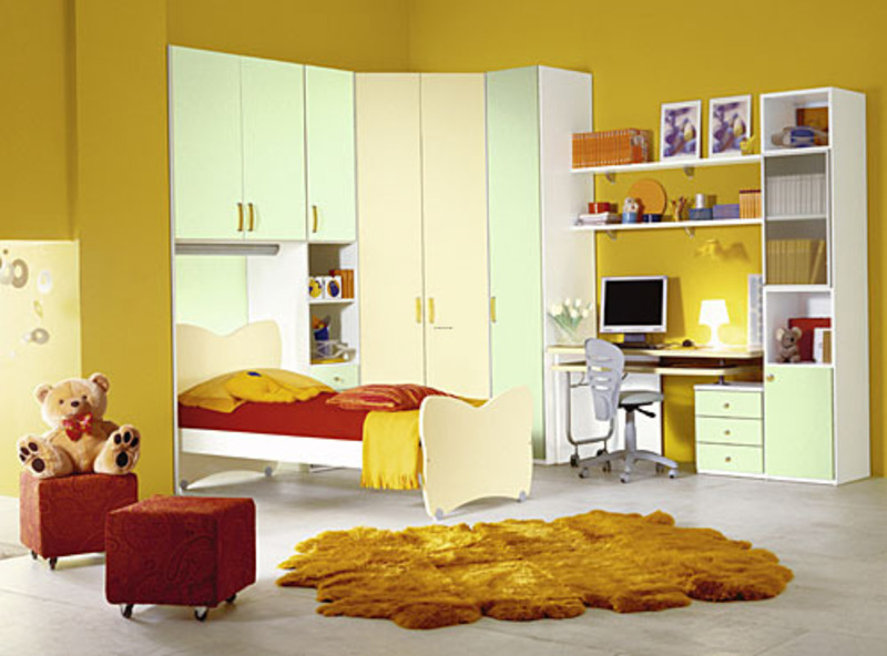 Yellow Interior Design Cute Yellow Teenage Girls Bedroom Interior And