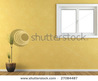 Interior Yellow Wall With A Window Stock Photo 27084487 : Shutterstock