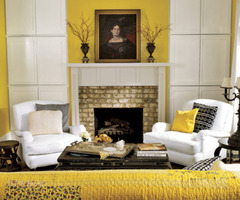 Yellow Living Room Decoration Color Theme