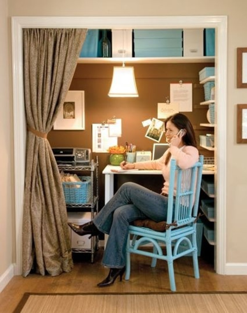 A closet turned home office from lowe s design bookmark 8678 Closet home office design ideas