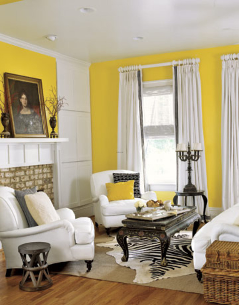 Yellow home decor design bookmark 8693 for Home decor yellow walls