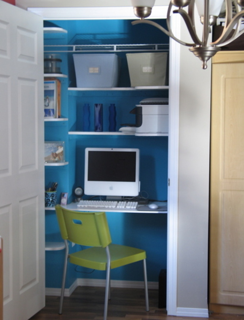 Closet home office design bookmark 8702 Closet home office design ideas