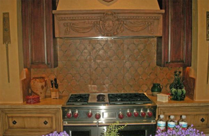 Tuscan design bookmark 8763 for Tuscan style kitchen backsplash