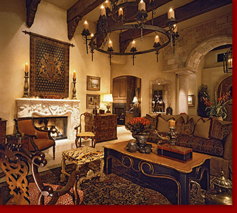 Rti tuscan villa living room design bookmark 8775 for Tuscan design