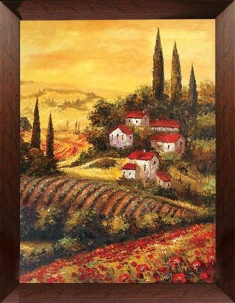 Decorating Tuscan Style Design Bookmark 8780