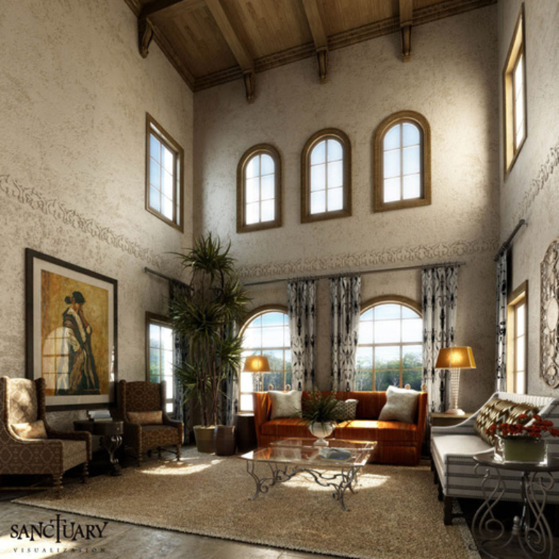 sanctuary visualization tuscan style living room design bookmark 8826. Black Bedroom Furniture Sets. Home Design Ideas