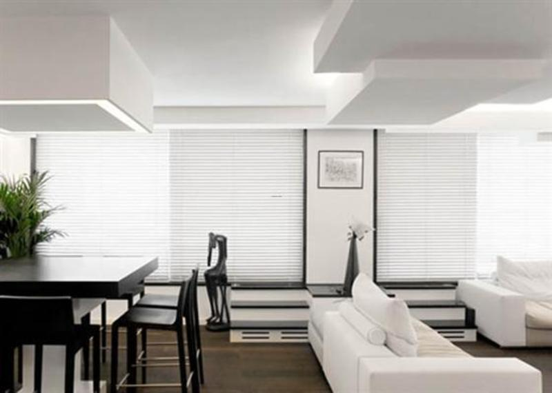 White Apartment Decoration, Unusual Minimalist White Apartment Decoration Layout With Creative Blocks