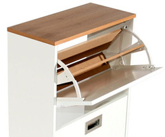 Merton  Modern White Shoe Storage Cabinet By Ristomatti Ratia Modern Shoe Cabinet  K