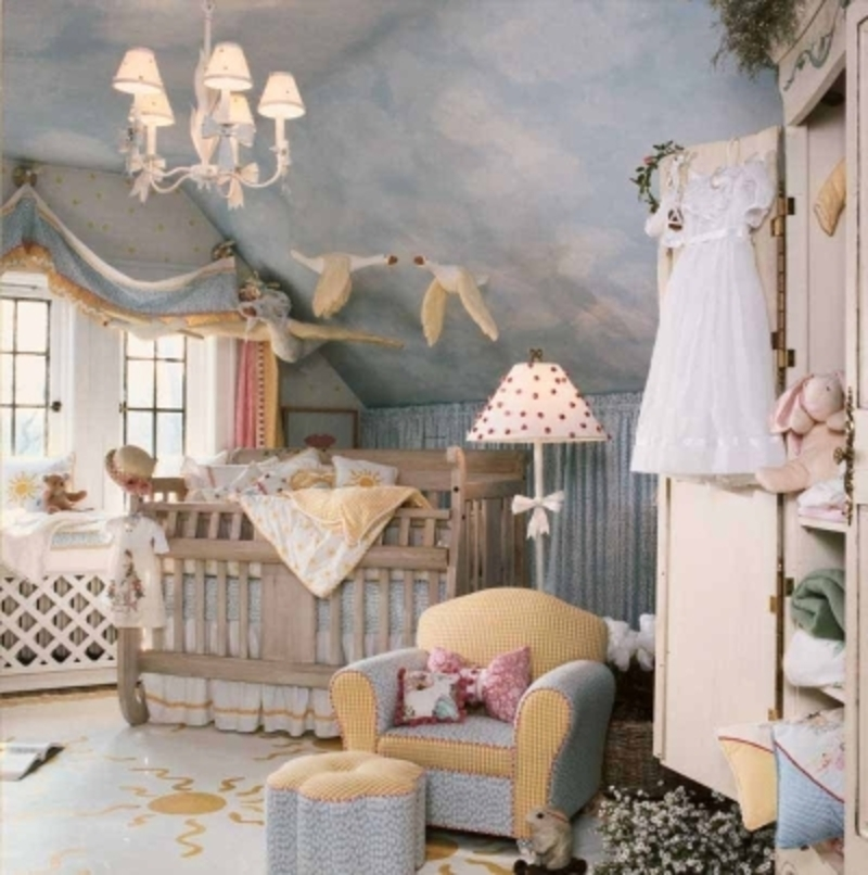 Baby nursery ideas for small rooms kids art decorating ideas for Baby girl crib decoration ideas