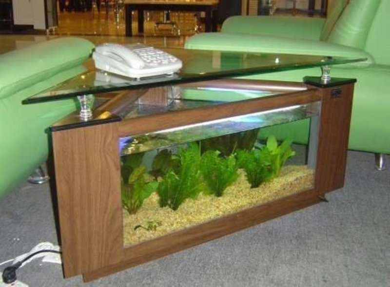 Famous Aquarium Fish Tank Coffee Table