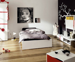 Modern And Trendy Teen Rooms Black And White Trendy Teen Bedroom With Red Accents – Home Design Ideas