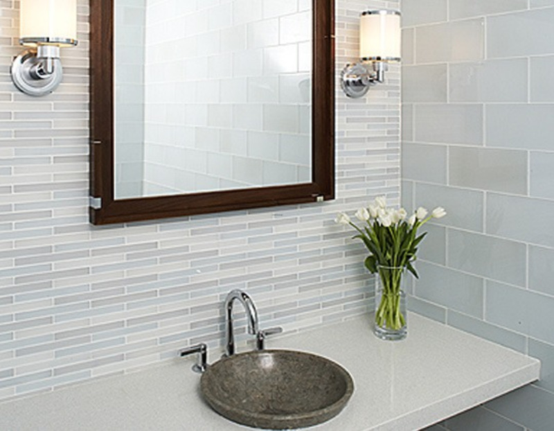 Modern bathroom tile design from ann sacks design for Bathroom tile designs pictures