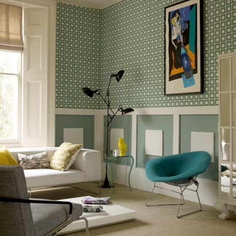Living Room Designs Funny Colorful Living Room Decorating: Modern Bright Retro Style And Vintage Home Design Ideas