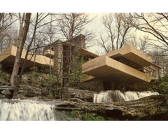 Falling Water House Giclee Print At All Posters.Com