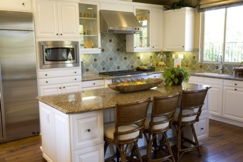 Small kitchen island designs with seating design decor - How to design a kitchen layout with island ...