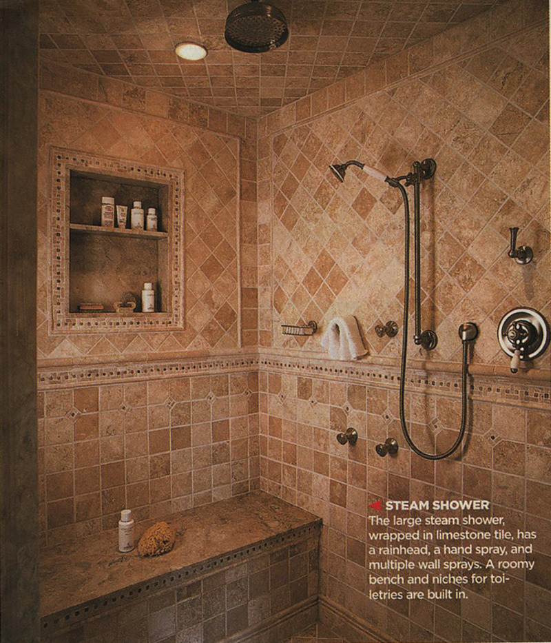 Bathroom shower designs design bookmark 9250 Large master bath plans