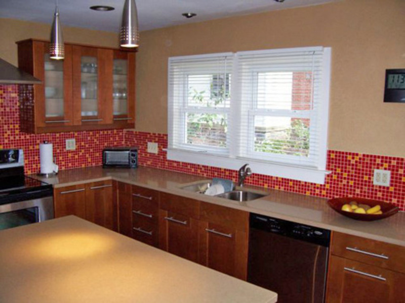 pics photos red tiles source mosaic kitchen red tiles