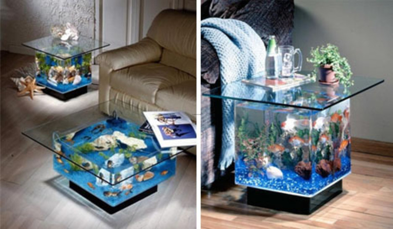Cool coffee table fish tanks designs design bookmark 9312 for Fish tank end table