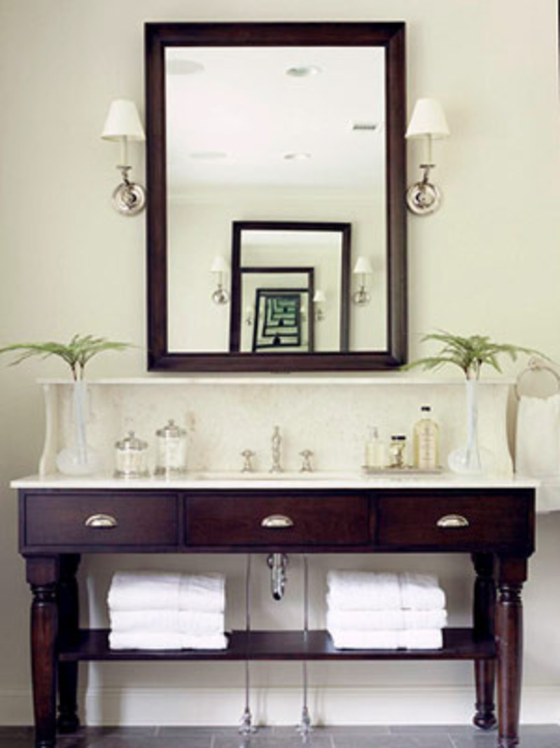 bathroom vanity ideas casual cottage