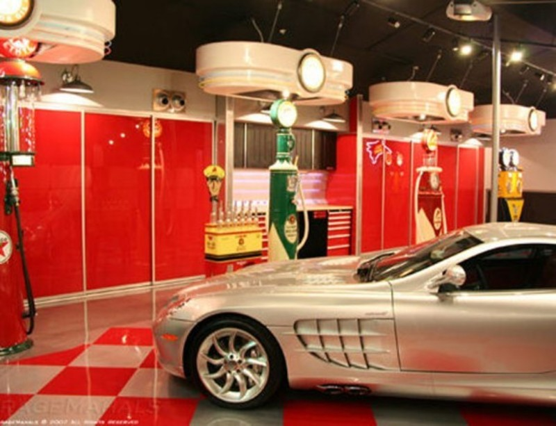 Modern luxury garage design gallery modern custom garage for Garage design ideas gallery
