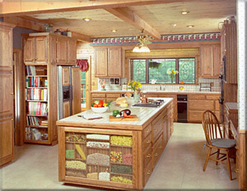 Kitchen island design bookmark 9386 for Country kitchen designs with islands