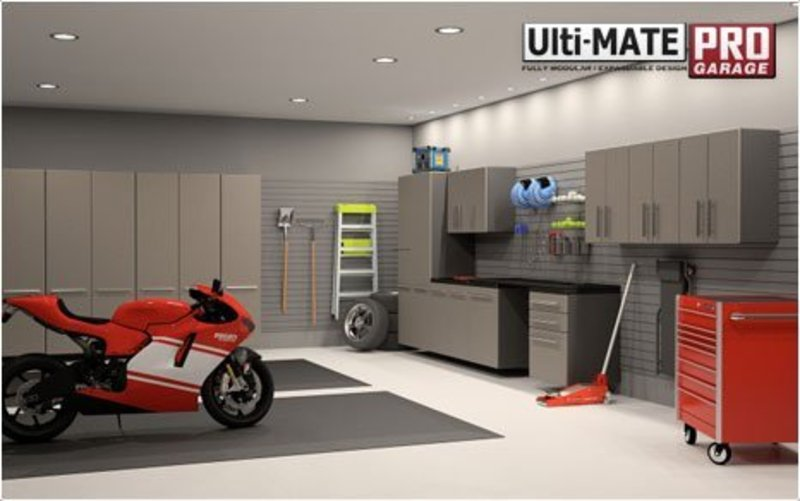 Pictures of garage storage cabinets designs remodeling for Garage designs pictures