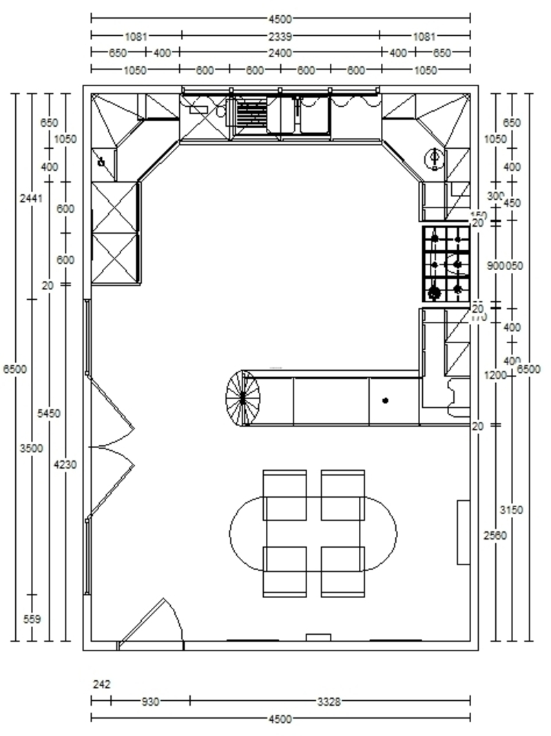 Kitchen floor plan ideas afreakatheart for Blueprints of restaurant kitchen designs