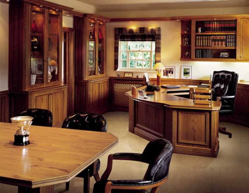Contemporary bespoke executive office furniture by conquest uk contemporary furniture - Traditional home office design ...