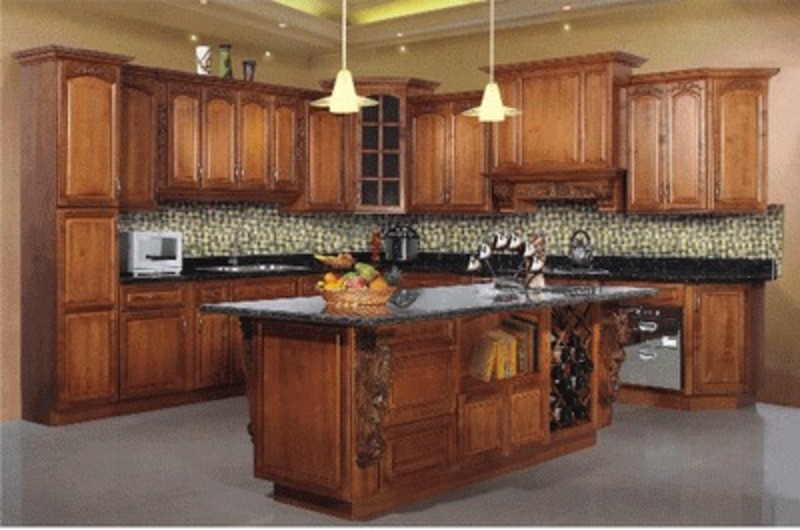Buy maple solid wood kitchen cabinets design bookmark 9553 for Maple kitchen cabinets