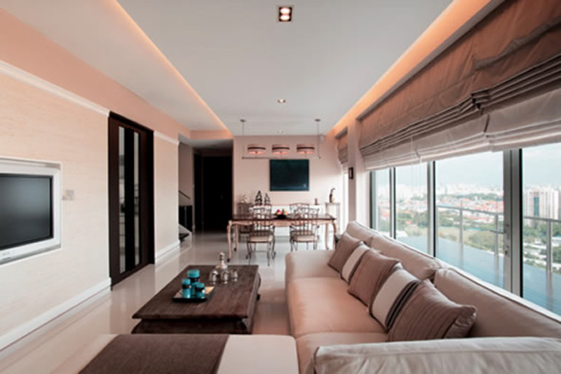Modern american seaview residential interior design by for American style interior design