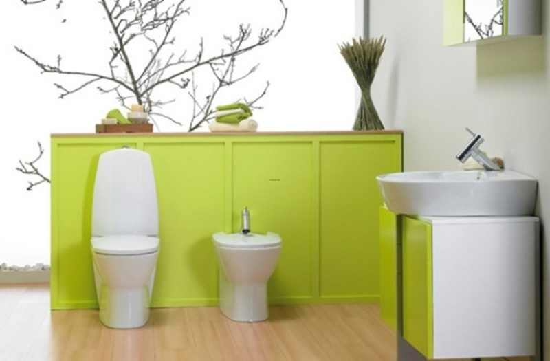 Modern wall paint ideas green bathroom wall painting