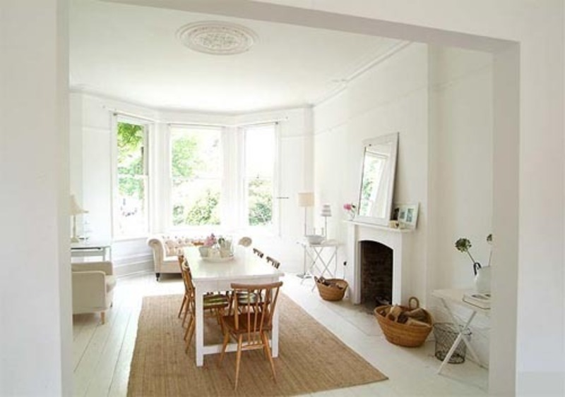 Interior white decorating house architecture for summer for Decoracion interior blanco