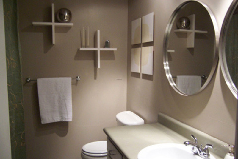 Modern Design And Decorating For Small Bathroom Space With