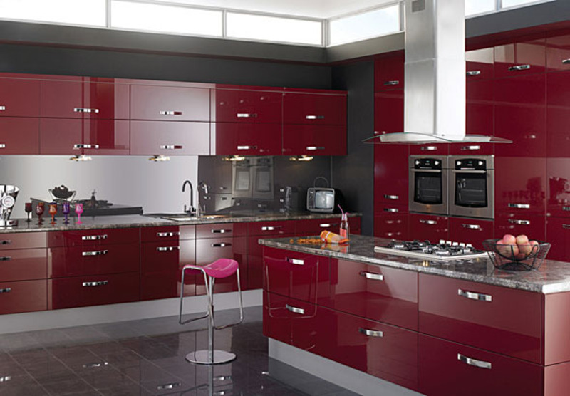 Decorating Ideas > Red Gloss Color Scheme 2011 Kitchen Ideas  Design  ~ 185758_Kitchen Decor Ideas Red