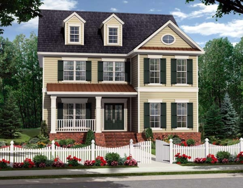 Two story colonial house plan no 45319 design bookmark for Two story colonial house plans