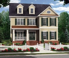 Two Story Colonial House Plan No. 45319