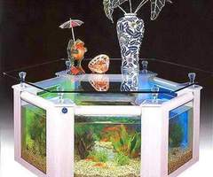 Combined Coffee Table And Aquarium In Various Shape
