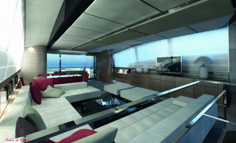 Boat Interior Design, Modern Luxury Boat Interior Design Decoration Layout