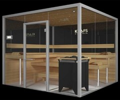Glass Sauna Room Designed By Klafs