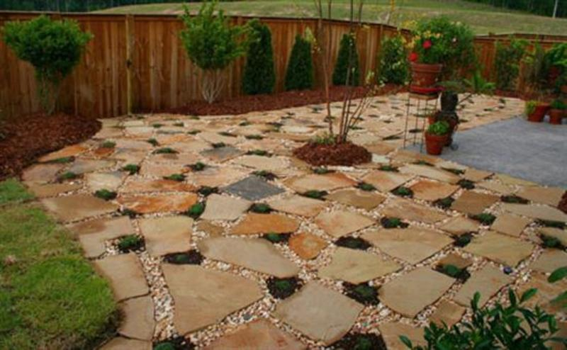 Redecorate patio design with paving garden designs Simple paving ideas