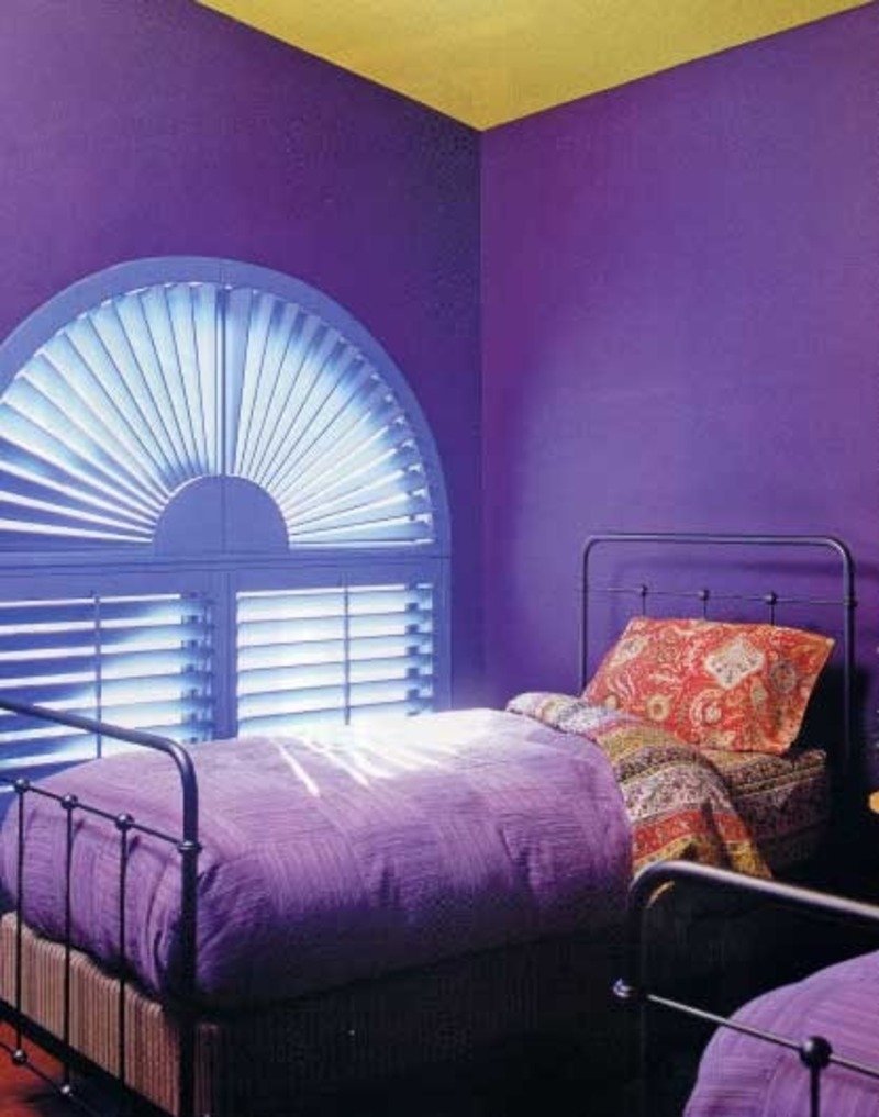Purple bedroom ideas casual cottage for Purple bedroom design ideas