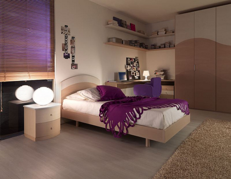 Color purple design ideas for any room design bookmark for Purple bedroom designs