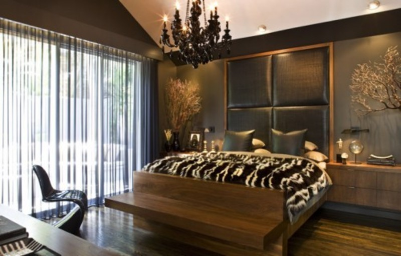 Fresh brown bedroom design house interior remodeling for Dark brown bedroom designs