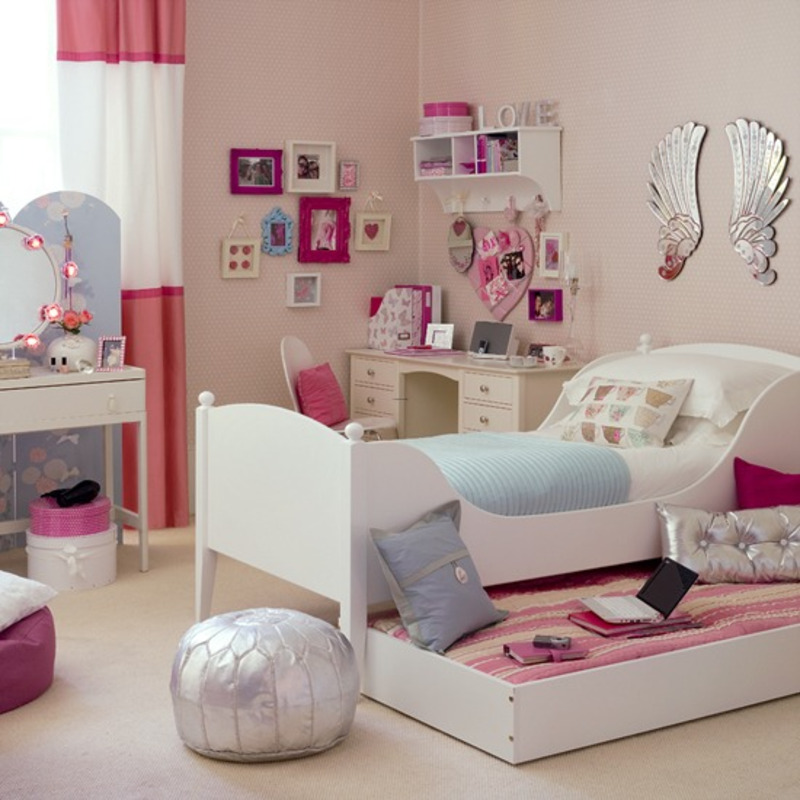 Romantic Pink And Cute Purple Teenage Girls Bedroom Design ...